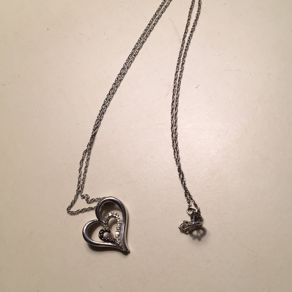 Kay Jewelers Jewelry - Heart necklace with black diamonds